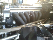 Big bore ceramic coated manifolds and system fitted to customers stunning 3.8 series 1.The real deal ! - click to enlarge