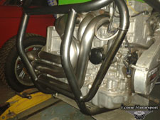 'F1 grass track' Honda engine with our special order manifolds. - click to enlarge